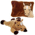 fiesta peek-a-boo plush horse pillow unzips