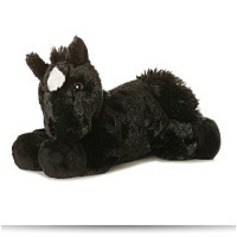 Plush Beau Black Horse Mini Flopsie 8