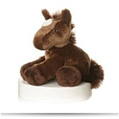 Plush Chestnut Brown Mini Flopsie Horse