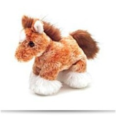 Plush Clyde Clydesdale Horse 8