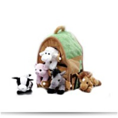 Plush Farm House With Animals Five