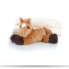 Plush Prancer Red Roan Horse Mini Flopsie